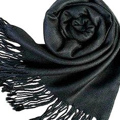 Etosell Women Korea Winter Long Large Warm Wrap Scarf Shawl Tassels Black