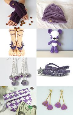 Purple gifts!!!   by Sevgi on Etsy--Pinned with TreasuryPin.com