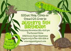 Reptile party invitation printable personalized by printedparty reptile party invitation printable personalized by printedparty birthdays pinterest reptile party reptiles and party invitations filmwisefo Image collections