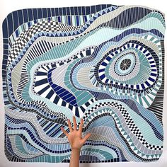 Abstract Paper Mosaics - Noirin van de Berg