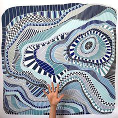 Abstract Paper Mosaics - Noirin van de Berg