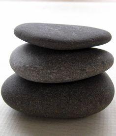 gray beach stone cairn