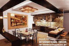 Amazing Modern Ceiling Design For Kitchen Largest Album Of Modern Kitchen Ceiling Designs Ideas Tiles Kitchen Ceiling Design, Kitchen Ceiling Lights, False Ceiling Design, Modern Kitchen Design, Modern Design, Ceiling Lighting, Layout Design, Küchen Design, House Design