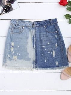 SHARE & Get it FREE | Cutoffs Ripped Denim Skirt - Denim Blue SFor Fashion Lovers only:80,000+ Items • New Arrivals Daily Join Zaful: Get YOUR $50 NOW!