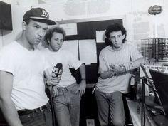 Paralamas do Sucesso. Herbert Vianna, Bi Ribeiro e Barone, Rádio Fluminense FM, 1991.