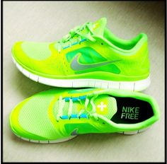 These exact neon green Nike running trainers - love! (Nike Free Run 3) New Hip Hop Beats Uploaded EVERY SINGLE DAY http://www.kidDyno.com