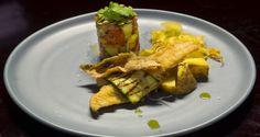 Pan Fried Gurnard with Zucchini and Tomato Salsa and Kumara Chips