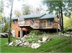 Lake Vermilion house rental - Cabin and deck picture
