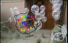 Decoración con globos polka