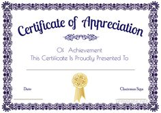 Certificate of appreciation for sponsorship | Thank you certificates ...