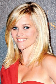 Champagne: Reese Witherspoon - Celebrity Hairstyles 2011 - The . Blond Hairstyles, Pretty Hairstyles, Straight Hairstyles, Celebrity Hairstyles, Easy Hairstyles, Cut My Hair, New Hair, Remy Hair Wigs, Great Hair
