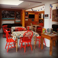 Inside the brand new Beech Cafe at the Tamar Trails Centre, Gulworthy