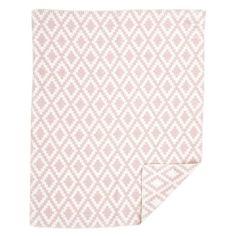 Diamonds Baby Pale Pink Blanket