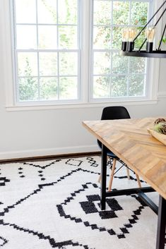 Dine in style with a rug from our Morocco Collection. #diningroomdecor #homeinspiration #homeenvy Modern Rugs, Modern Living, Shed Colours, Dining Room Inspiration, Contemporary Style, Vintage Rugs, Morocco, Home Accessories, Unique
