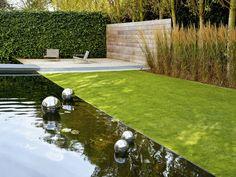 100 ideas for garden design - Modern design for outdoor use - Decoration Gram Modern Landscaping, Outdoor Landscaping, Outdoor Gardens, Contemporary Landscape, Landscape Design, Garden Design, Garden Privacy, Design Jardin, Water Features In The Garden