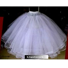 White 8 Layer Full Length Non Hoop Crinoline Petticoat Tutu Skirt Slip SKU-141023