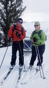 Diaper Bags are Changing to Keep up with the Adventure of Parenthood (skiing and wearing the @GEIGERRIG Mom pack - not all diaper bags can do that!)
