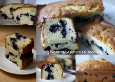 Blueberry and Cream Cheese Pound Cake