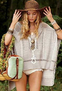 free people poncho-- Elsa, again! When I worked with her, I knew she'd continue booking big jobs.