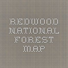 Redwood National Forest Map