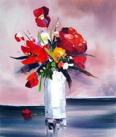 peinture fleur 3875