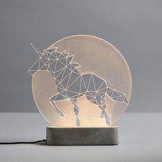 Unicorn Lamp // Full Moon
