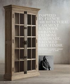 RH - THE FRENCH CASEMENT CABINET DESIGNED BY LUAY AL - RAWI THE NETHERLANDS