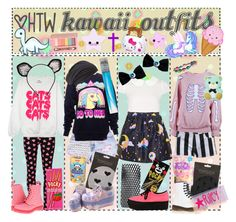 """""""HTW: Kawaii Stuff ^w^"""" by tips-tips-tipss ❤ liked on Polyvore featuring Rare London, Influence, Wet Seal, Hello Kitty, ULTA, Alice + Olivia, Kensie, Dr. Martens, MAISON MICHEL PARIS and Panda"""