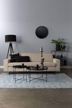 Zuiver - Jean Sofa - Latte - Beige sofa i design af Zuiver Cosy Sofa, 5 Seater Sofa, Beige Sofa, Comfortable Sofa, Sit Back And Relax, Beige Jeans, Sofa Design, Seat Cushions, Living Room Designs
