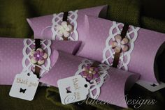 It's a Girl Thing Party Favor Pillow Box by aileensdesigns on Etsy, $6.00