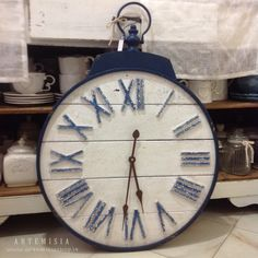 Coastal clock - Orologio da muro in stile marino 60 cm http://www.artemisiashop.it/