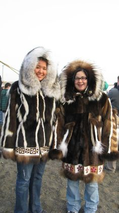 Gorgeous fur parka creations, photo by Sarah Ahngasuk Eckley. Oh, I want one!