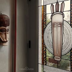Grisaille, Tribal Art, Glass Design, Stained Glass, Door Handles, Creations, Tours, Decor, Tiffany