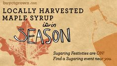 CT Maple Syrup Events 2015