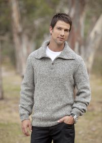 Free Knitting Pattern Mens Chunky Jumper : Mens jumper: free knitting pattern Free knitting patterns Pinterest ...