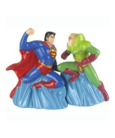 Look at this Superman vs. Lex Luthor Salt & Pepper Shakers on #zulily today!