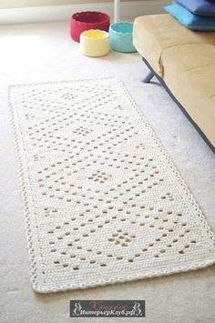 9 Вязаный прикроватный коврик своими руками, Вязаный декор для дома своими руками, идеи вязаного декора для интерьера