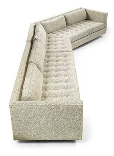 Two-piece Sofa, Harvey Probber, Furniture Styles, Sofa Furniture, Vintage Furniture, Furniture Design, Round Sofa, Single Sofa, Chaise Sofa, Mid Century Modern Furniture, Architecture