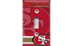 San Francisco 49ers Light Switch Cover by Crazy8Zdecor on Etsy ; #ForTheCave(: