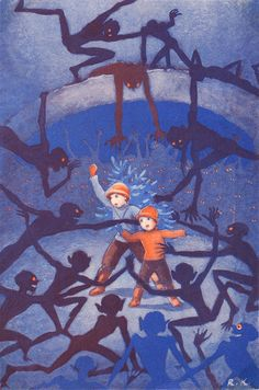 I remember this Rudolf Koivu children's book illustration from my childhood. Ah, nostalgia.