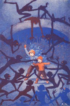 I remember this Rudolf Koivu children's book illustration from my childhood. Ah, nostalgia.