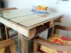 Image result for table a manger en palette