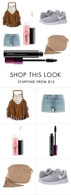 """Welcome Summer"" by yarendemirci on Polyvore featuring Balmain, Paige Denim, MAC Cosmetics, Yves Saint Laurent and NIKE"
