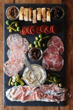 basilgenovese:  Honestly Yum: Cheese & Charcuterie Platter with Eggplant Pate