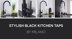Durable & stylish kitchen taps and kitchen mixers. Browse a superb range of high-quality kitchen taps and get fast UK delivery from Big Bathroom Shop Black Kitchen Taps, Black Kitchens, Bathroom Shop, Big Bathrooms, Designer Kitchen Taps, Kitchen Mixer, Stylish Kitchen, Mixers, Luxury