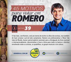 #45Motivos para merecer seu voto. Motivo 39: São João. O São João será conhecido nacional e internacionalmente.