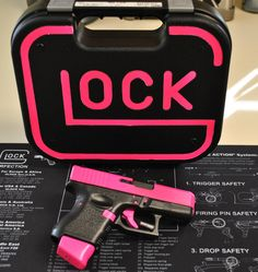 """Glock 27 """"Hot Pink"""" with custom matching case"""