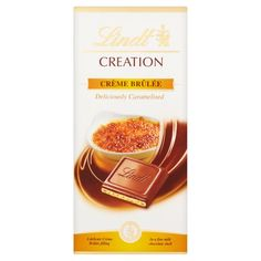 Lindt Creation Creme Brulee from Ocado Lindt Chocolate, Chocolate Shells, Chocolate Brands, Chocolate Lovers, Caramelized Sugar, Cute Desserts, Snack Bar, Cocoa Butter, Snacks