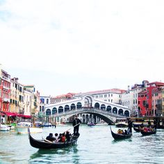 I had been waiting so long to see the famous Rialto bridge in Venice, Italy! Let's just say this view did not disappoint. Gondolas, canals, bridges, and colorful buildings... what a city.