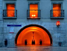 Metro Baixa-Chiado underground station, (by unknown) When One Door Closes, Beyond Beauty, Metro Station, Light Architecture, Spain And Portugal, World's Most Beautiful, Lisbon, Portuguese, Amazing Places